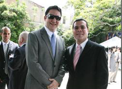 Héctor Zelaya (I) fue el primero en llegar a la reunión