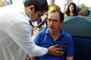El ex Juez Luis Alonso Chevez cuando estaba en huelga de hambre (archivo)